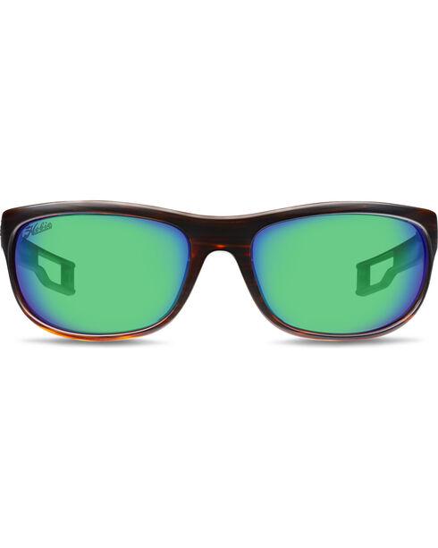 Hobie Men's Sea Green and Brown Wood Grain Cruz-R Polarized Sunglasses , Brown, hi-res