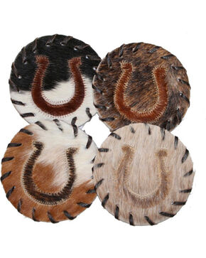 B.S. Trading Hair On Horseshoe Coasters, No Color, hi-res