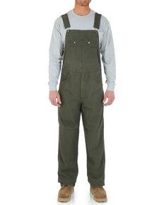 Wrangler Riggs Men's Ripstop Bib Overalls, Green, hi-res