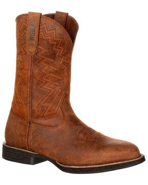 Rocky Men's Renegade Western Work Boots - Round Toe, Dark Brown, hi-res