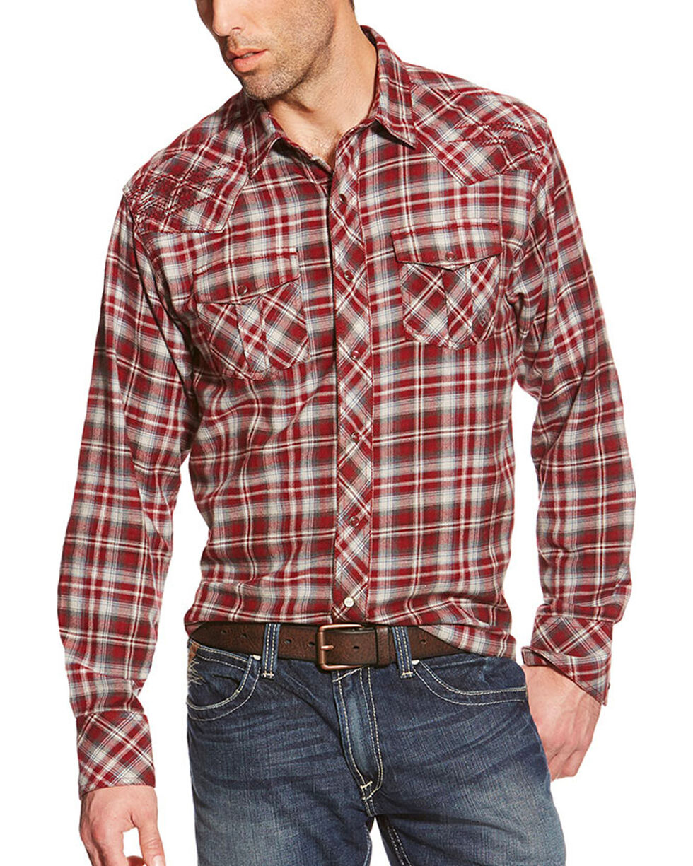 Ariat Men's Norris Long Sleeve Plaid Shirt, Multi, hi-res