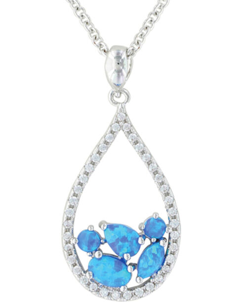 Montana Silversmiths Women's River of Lights Tumbled Stones Teardrop Jewelry Set , Silver, hi-res