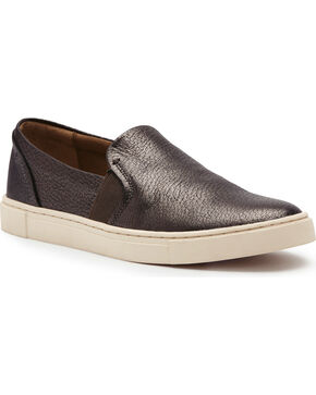 Frye Women's Pewter Ivy Slip-On Sneakers, Grey, hi-res