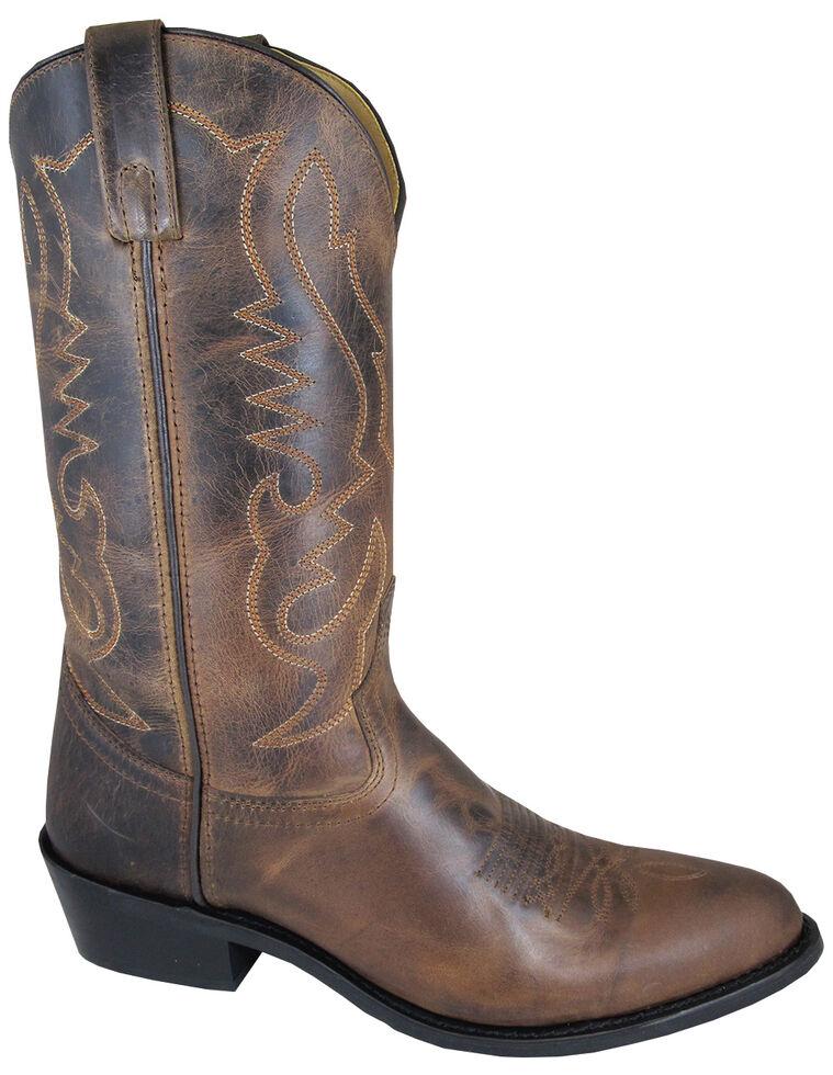 Smoky Mountain Men's Brown Denver Cowboy Boots - Medium Toe, Brown, hi-res