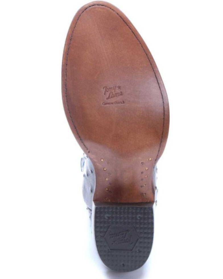 Tony Lama Men's Rudy Exotic Ostrich Western Boots - Round Toe, Grey, hi-res