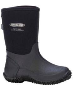 Dryshod Boys' Black Tuffy Rubber Boots - Soft Toe, Black, hi-res