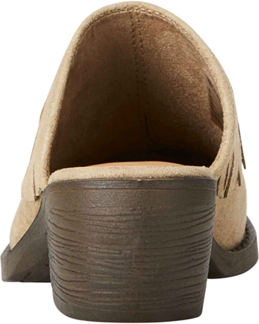 Ariat Women's Unbridled Shirley Sand Mules - Round Toe, Sand, hi-res