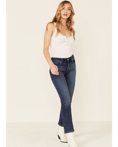 Levi's Women's Classic Straight Mid Rise Maui Waterfall Jeans, Blue, hi-res