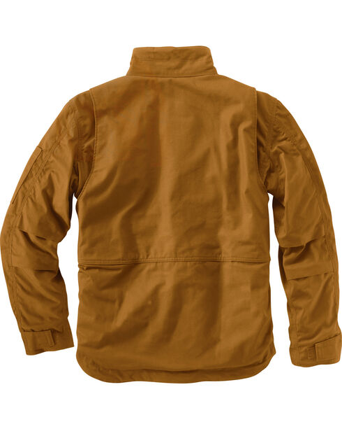 Carhartt Men's Flame-Resistant Full Swing Quick Duck Coat , Brown, hi-res