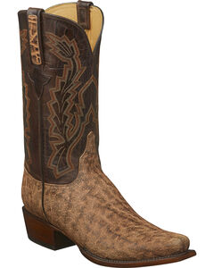 Lucchese Men's Kirkland Tan Elephant Western Boots - Square Toe, Tan, hi-res
