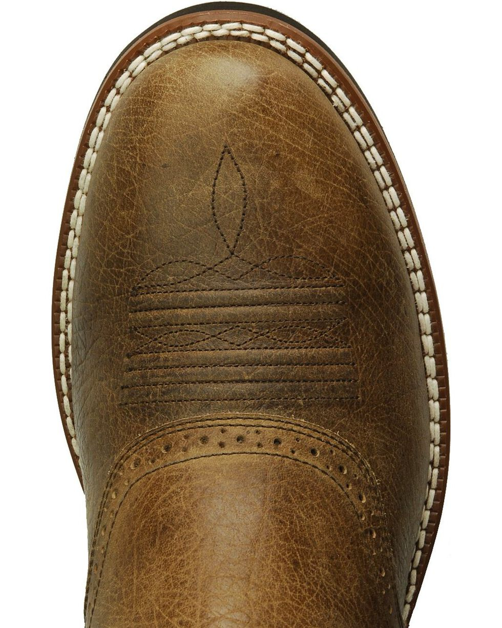 Ariat Heritage Crepe Cowboy Boots - Round Toe, Earth, hi-res