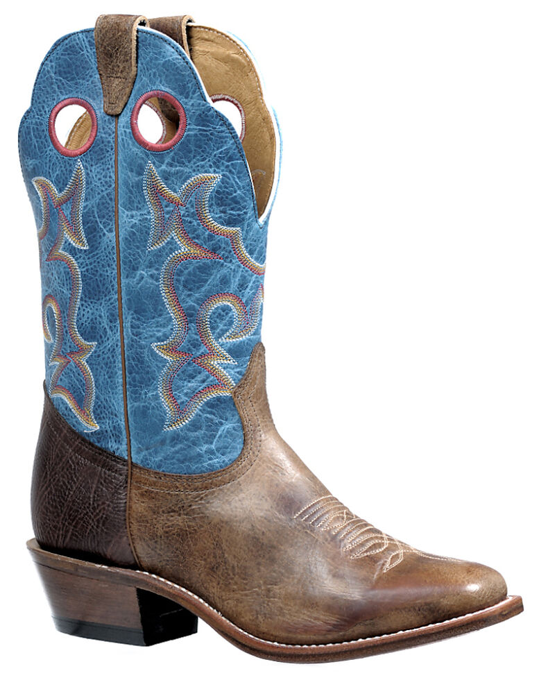 Boulet Men's Damasko Taupe Roughstock Western Boots - Square Toe, Taupe, hi-res