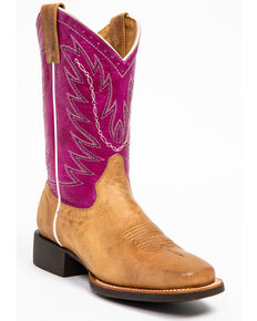 Shyanne Women's Hakka Western Boots - Square Toe, Brown, hi-res