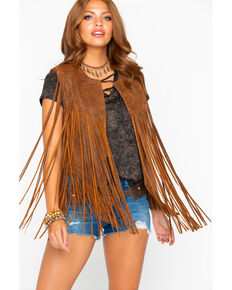 c0eceb32ebe40 Cripple Creek Womens Distressed Fringe Leather Vest