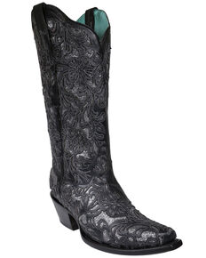 Corral Women's Black Glitter Inlay Western Boots - Snip Toe, Black, hi-res