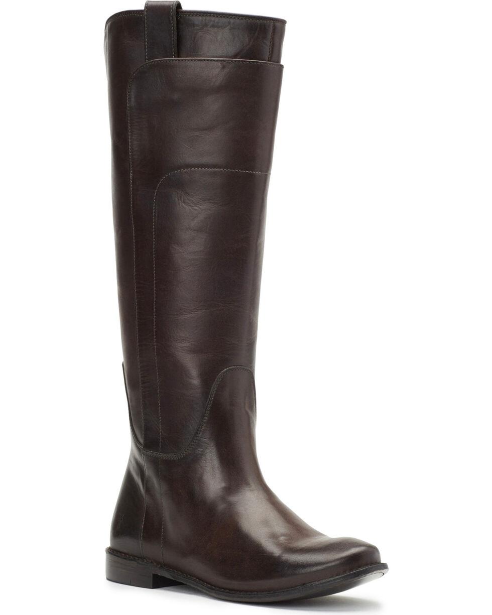 Frye Women's Smoke Paige Tall Riding Boots - Round Toe , Dark Grey, hi-res
