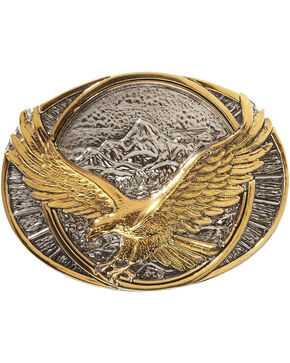 Montana Silversmiths Soaring Eagle Belt Buckle, Silver, hi-res