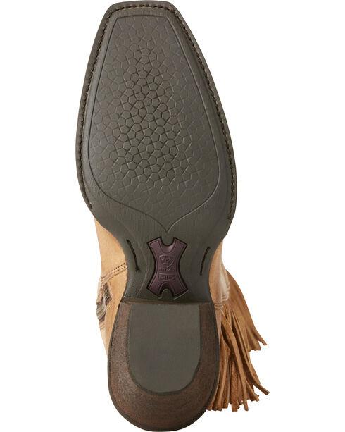 Ariat Women's Beige Leyton Tall Fringe Boots - Square Toe, Honey, hi-res
