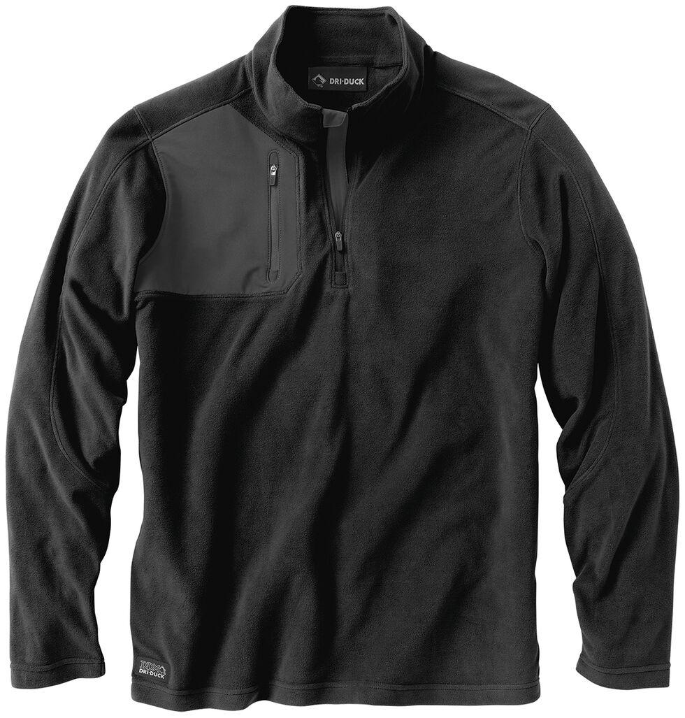 Dri Duck Men's Interval Quarter-Zip Fleece - Big Sizes (3XL - 4XL), Black, hi-res