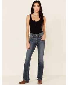 Ariat Women's Amethyst Straight Jeans, Blue, hi-res