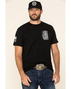 Howitzer Men's Don't Tread On Me Flag Graphic T-Shirt , Black, hi-res