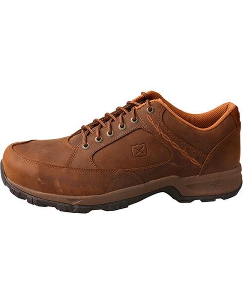 Twisted X Men's Brown Saddle Hiker Work Shoes - Steel Toe , Brown, hi-res