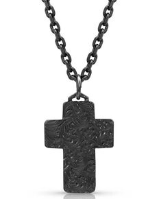 Montana Silversmiths Hammered Cross Necklace, Silver, hi-res