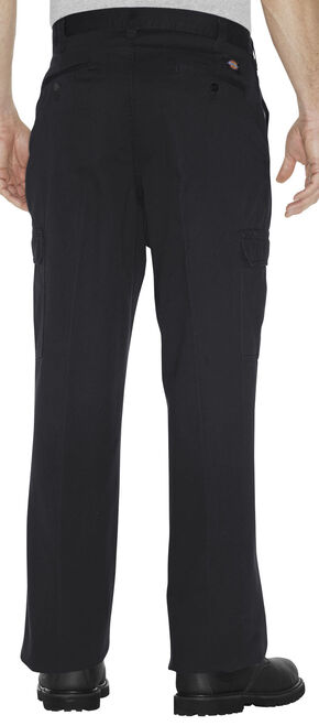 Dickies Loose Fit Cotton Cargo Pants - Big and Tall, Black, hi-res