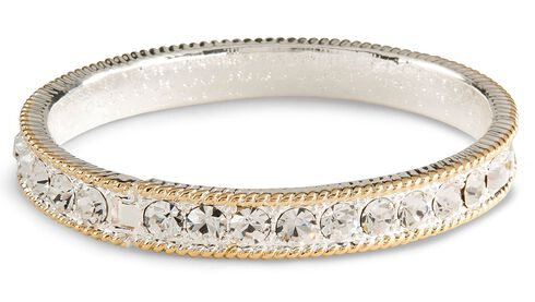 Montana Silversmiths Cubic Zirconia Bangle Bracelet, Silver, hi-res
