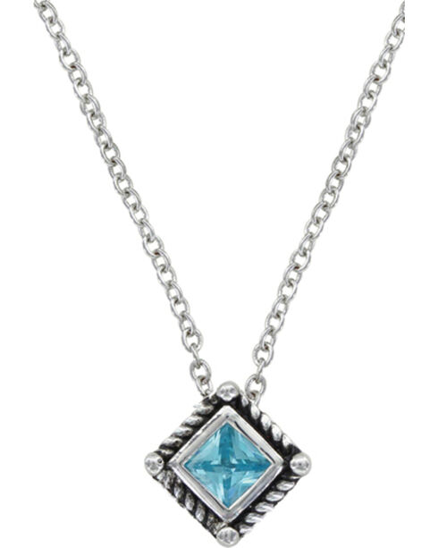 Montana Silversmiths Roped Blue Starlight Necklace, Silver, hi-res