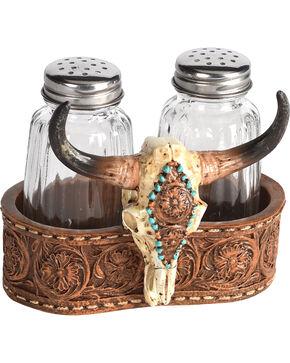 BB Ranch Cow Skull Salt & Pepper Shaker Set, No Color, hi-res