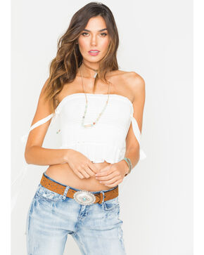 Sage the Label Women's Daytripper Off Shoulder Top , White, hi-res