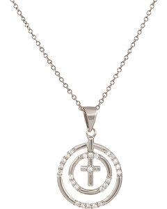 Montana Silversmiths Fellowship Circle Necklace, Silver, hi-res