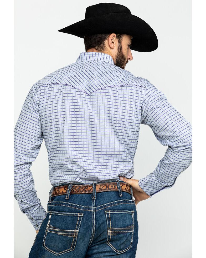 Rock 47 by Wrangler Men's Small Plaid Long Sleeve Western Shirt , Grey, hi-res