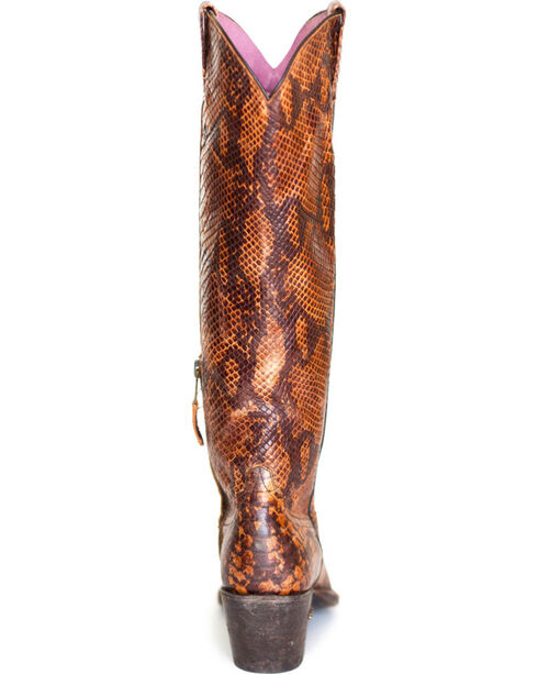 Miss Macie Women's Snakin' It Print Western Boots - Snip Toe , Multi, hi-res