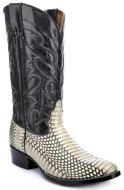 Circle G Cobra Cowboy Boots - Round Toe, Natural, hi-res
