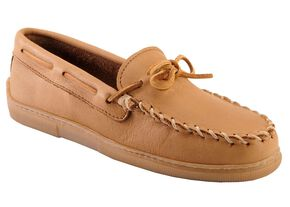 Minnetonka Men's Moosehide Classic Moccasins, Natural, hi-res