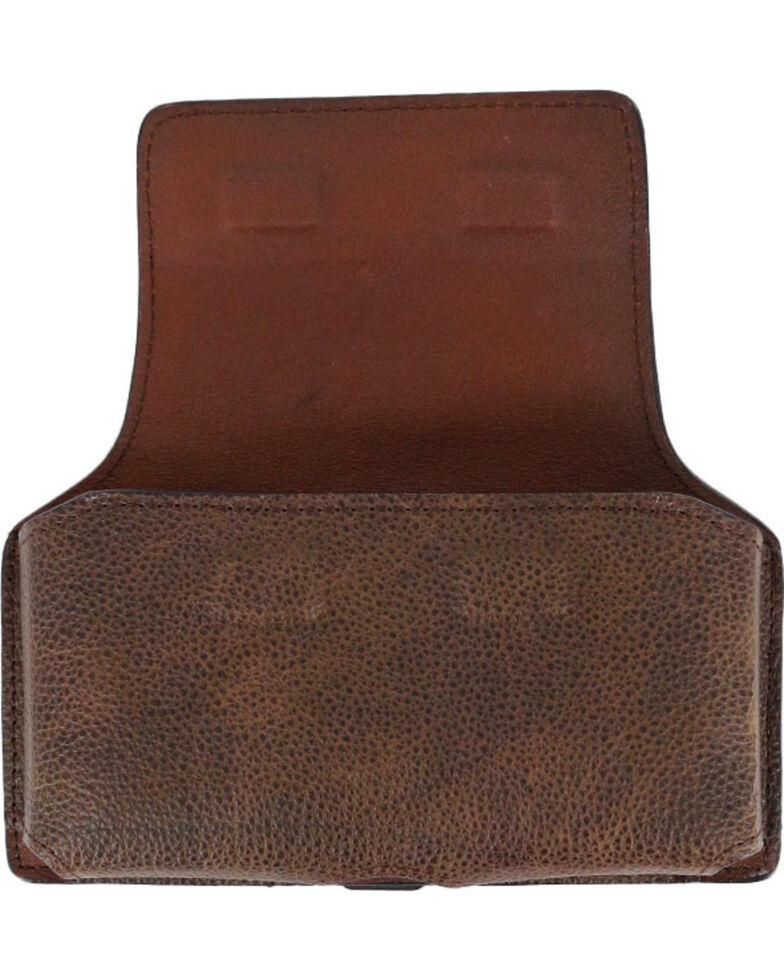 Georgia Boot Men's Leather Cell Phone Holder, Chocolate, hi-res