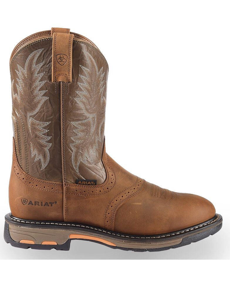 Ariat Workhog Pull-On Work Boots, Bark, hi-res