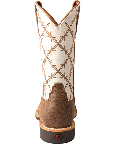 Twisted X Boys' Top Hand Cowboy Boots - Square Toe, Brown, hi-res