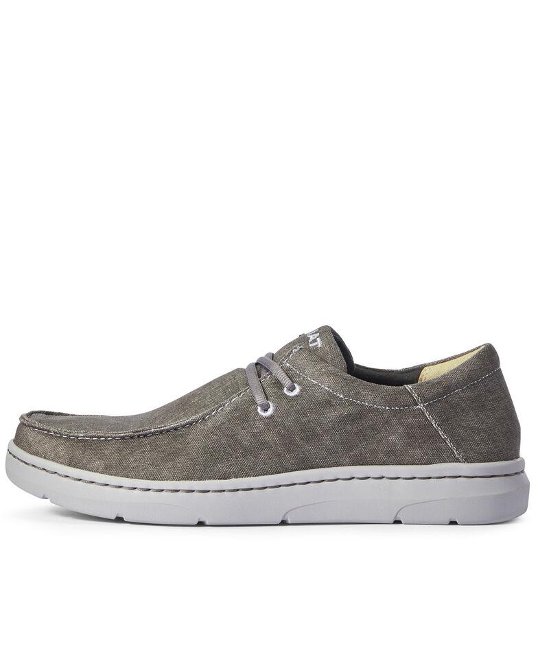 Ariat Men's Hilo Deep Ash Lace-Up Shoes - Moc Toe, Black, hi-res