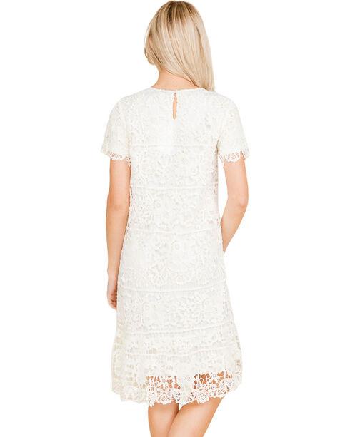 Polagram Women's White Lace Dress, Ivory, hi-res