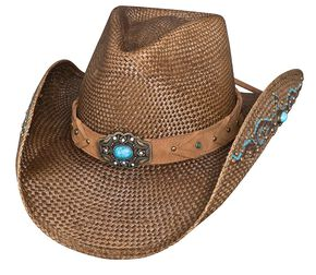 Bullhide Amnesia Straw Cowgirl Hat, Brown, hi-res