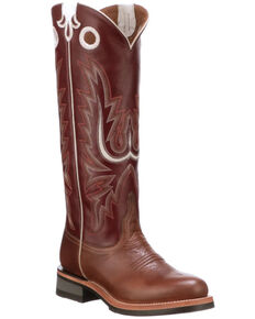 Lucchese Women's Ruth Tall Western Boots - Round Toe, Tan, hi-res