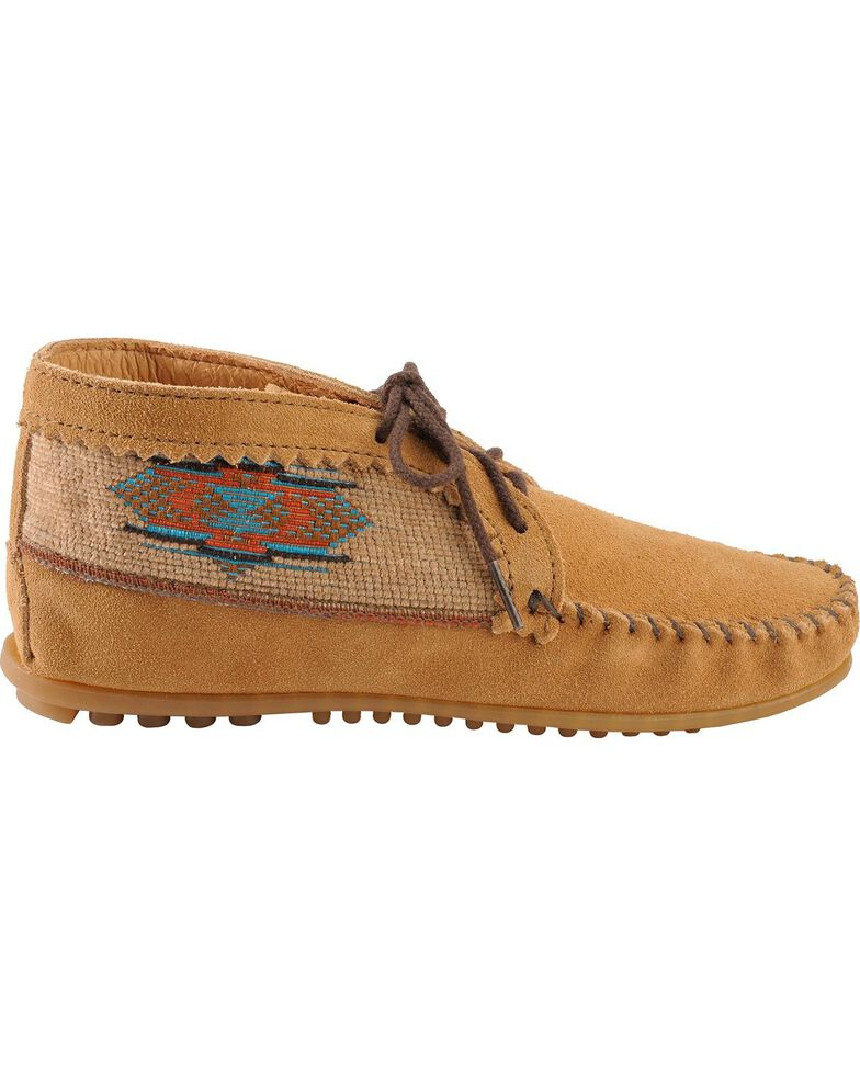 Women's Minnetonka El Paso Ankle Moccasin Boots, Taupe, hi-res