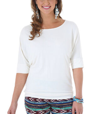 Wrangler Rock 47 Women's White Dolman Sleeve Tunic , White, hi-res