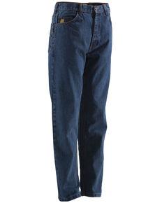 Berne Stonewash Flame Resistant 5-Pocket Jeans - Big (44 - 50), Stonewash, hi-res