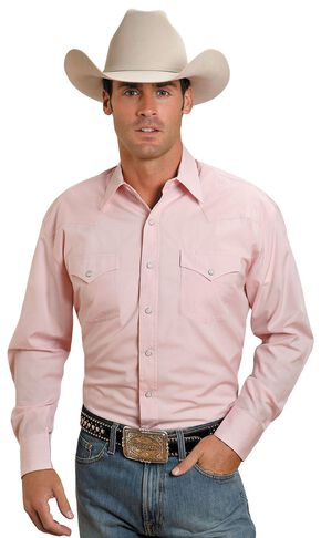 Stetson Solid Snap Oxford Shirt, Pink, hi-res