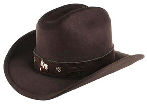 Shyanne Kids' Monte Carlo Horsing Around Cowboy Hat, Chocolate, hi-res