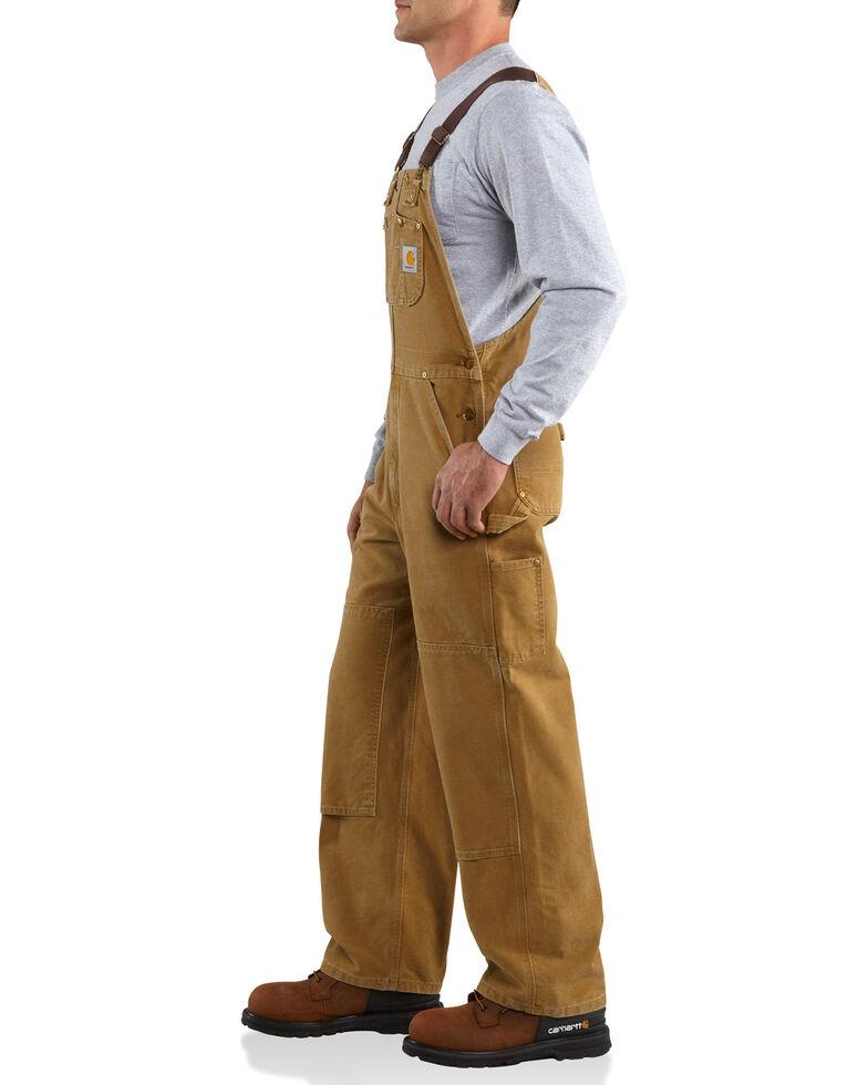 Carhartt Duck Bib Unlined Overalls - Big & Tall, Brown, hi-res